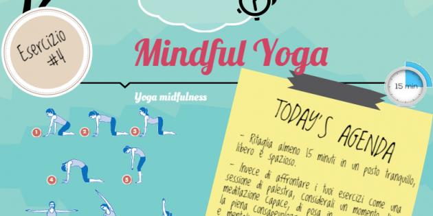 Esercizio mindful yoga