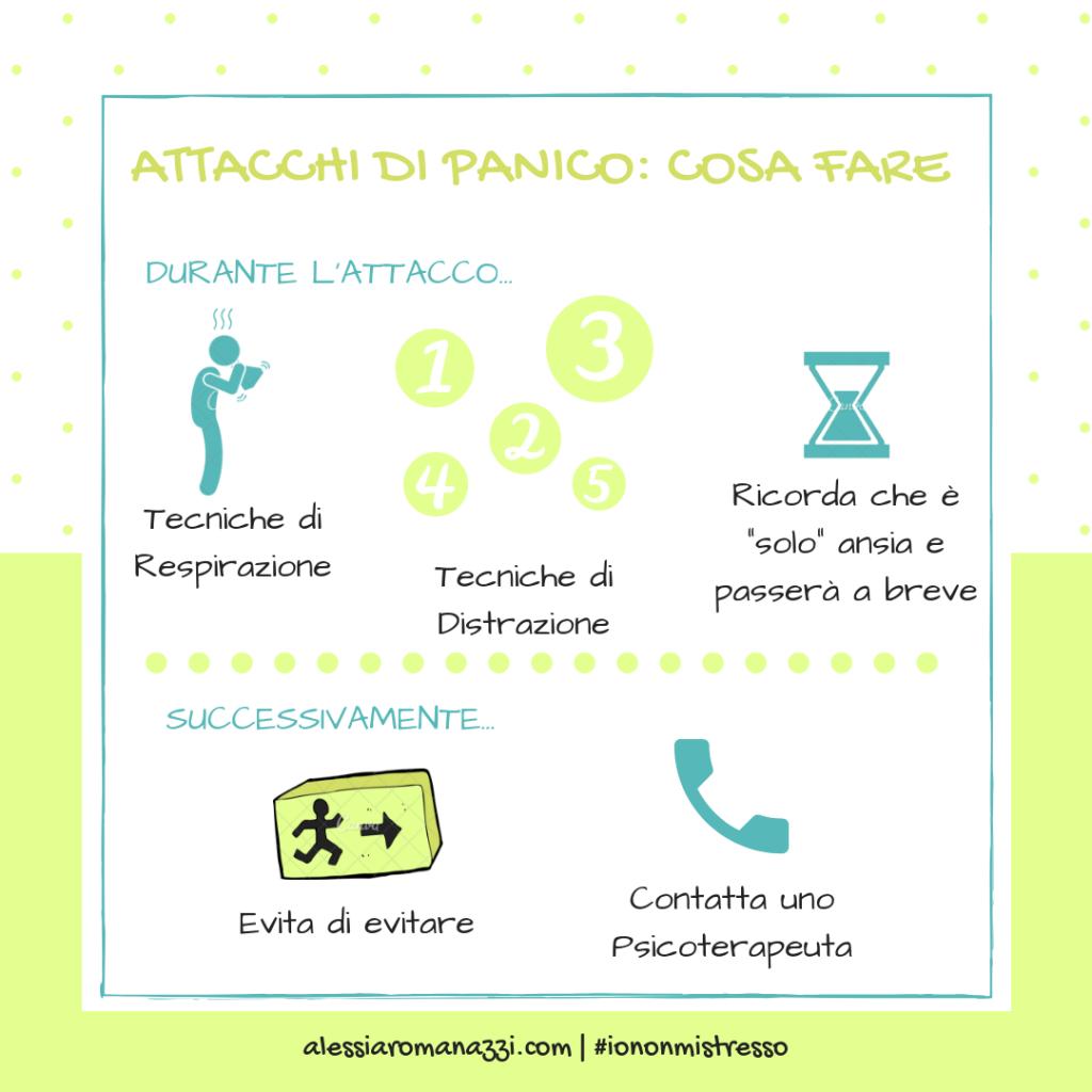 Infografica | Attacchi di panico: cosa fare